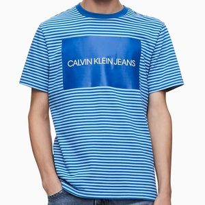 NWT CALVIN KLEIN MEN'S BLUE CREW NECK T-SHIRT